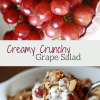 CREAMY CRUNCHY GRAPE SALAD