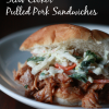 SLOW COOKER PULLED PORK SANDWICHES WITH CILANTRO COLESLAW