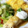 GREEN CHILE CHICKEN ENCHILADAS WITH BLACK BEANS