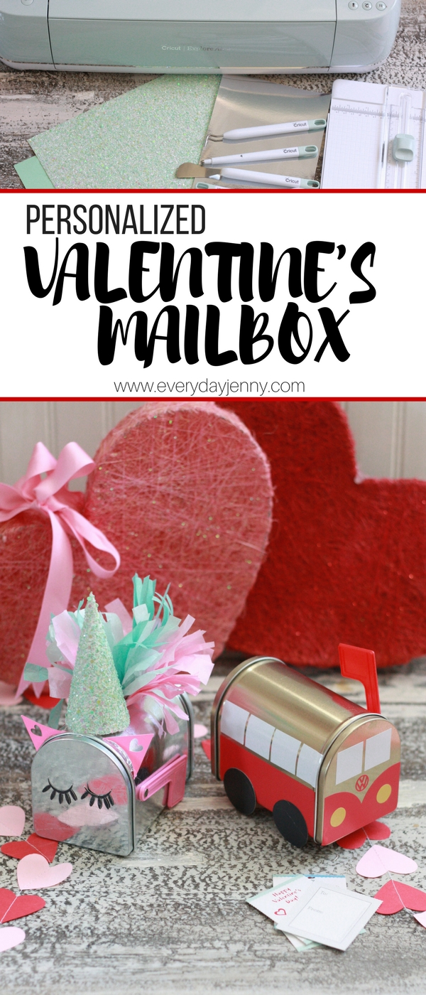 Diy Valentine S Mailboxes With Cricut Everyday Jenny