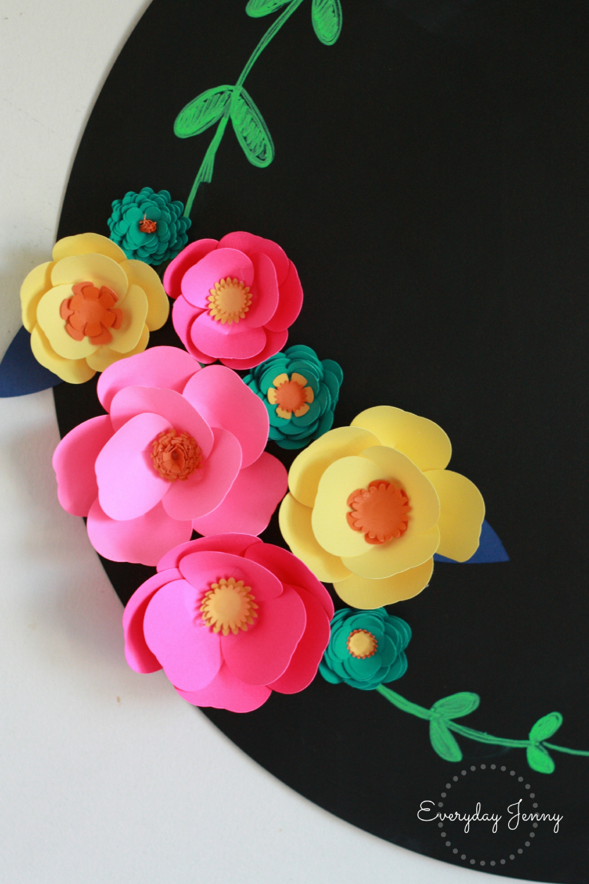 3d Paper Flower Magnets With Cricut Everyday Jenny