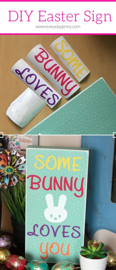 Diy Easter Sign With Cricut Explore Air 2 Everyday Jenny