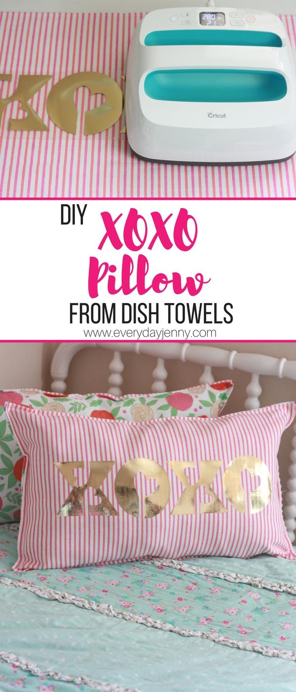 Cricut Foil Iron On Xoxo Valentine S Day Pillow Everyday Jenny