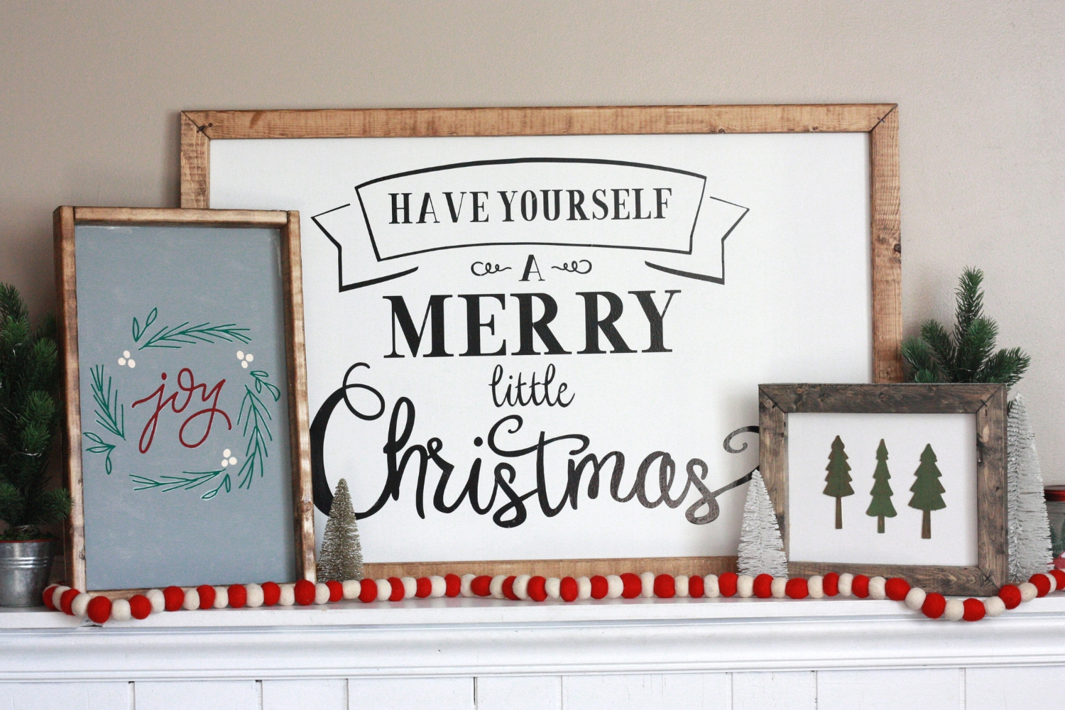 Diy Farmhouse Wood Christmas Signs With Cricut Everyday Jenny